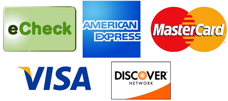 Pay anywhere, anytime with the most common credit and debit cards plus ACH