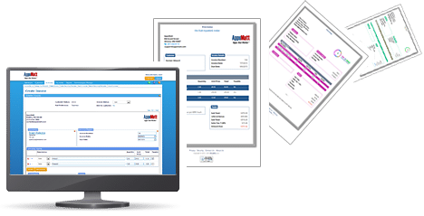 Send electronic or paper invoices