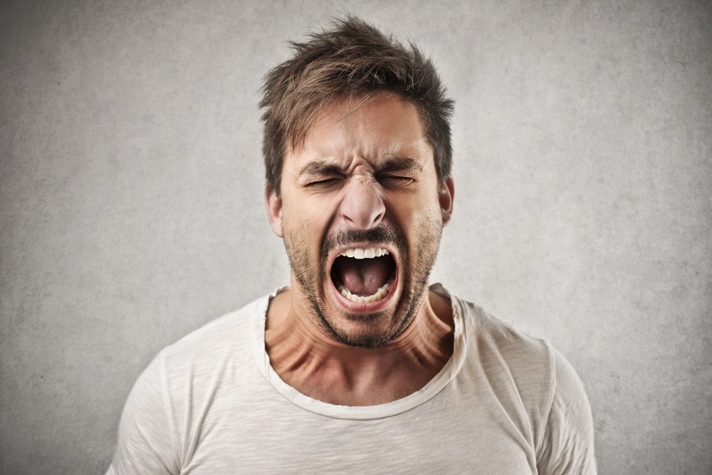 A man shouting for not getting his invoices paid