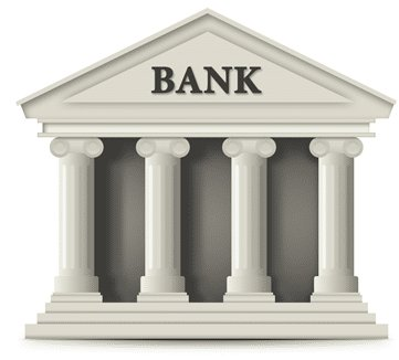 An animated bank building that represents as bank payments