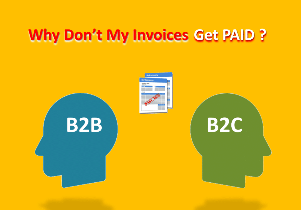 Two head figures B2B and B2C having problems with invoices not getting paid