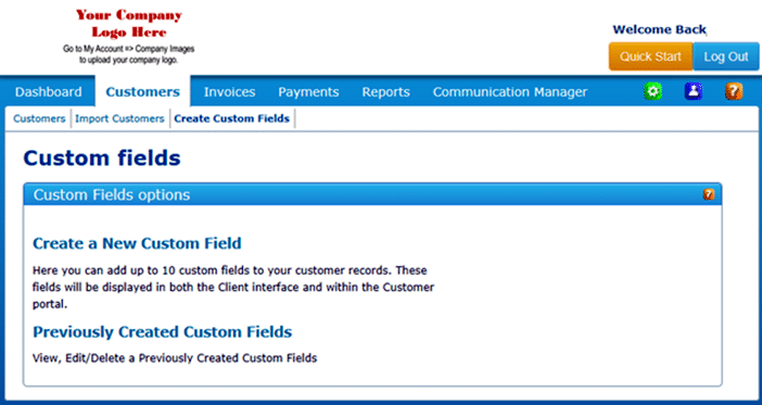 In Custom Fields Dashboard, you can create a new custom field or just view and delete previously created custom fields