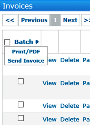 Sending invoices to lots of customers will make it easier by clicking the Batch hyperlink
