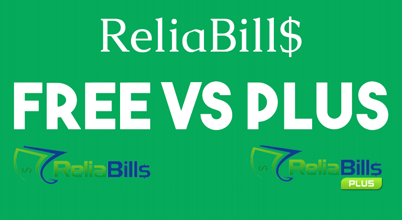 Comparison between ReliBills Free and Plus