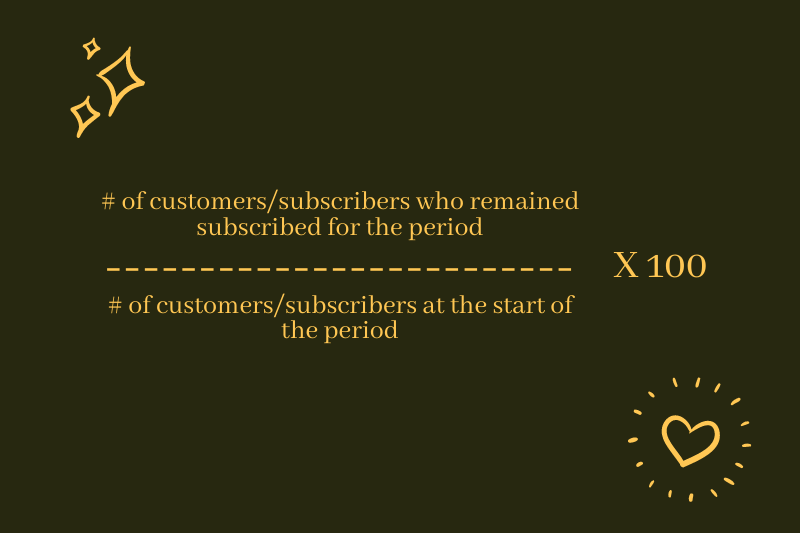 Formula of Calculating Retention Rate